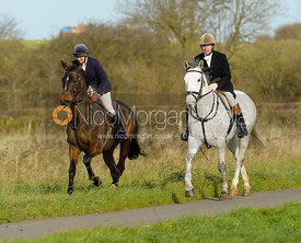 Louise Bevin, Jimmy Couldrey leaving the meet