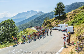 The Peloton on Col d'Aspin - Tour de France 2015