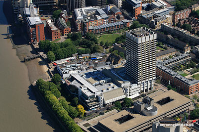 aerial photograph the London Television Centre  South Bank London England UK