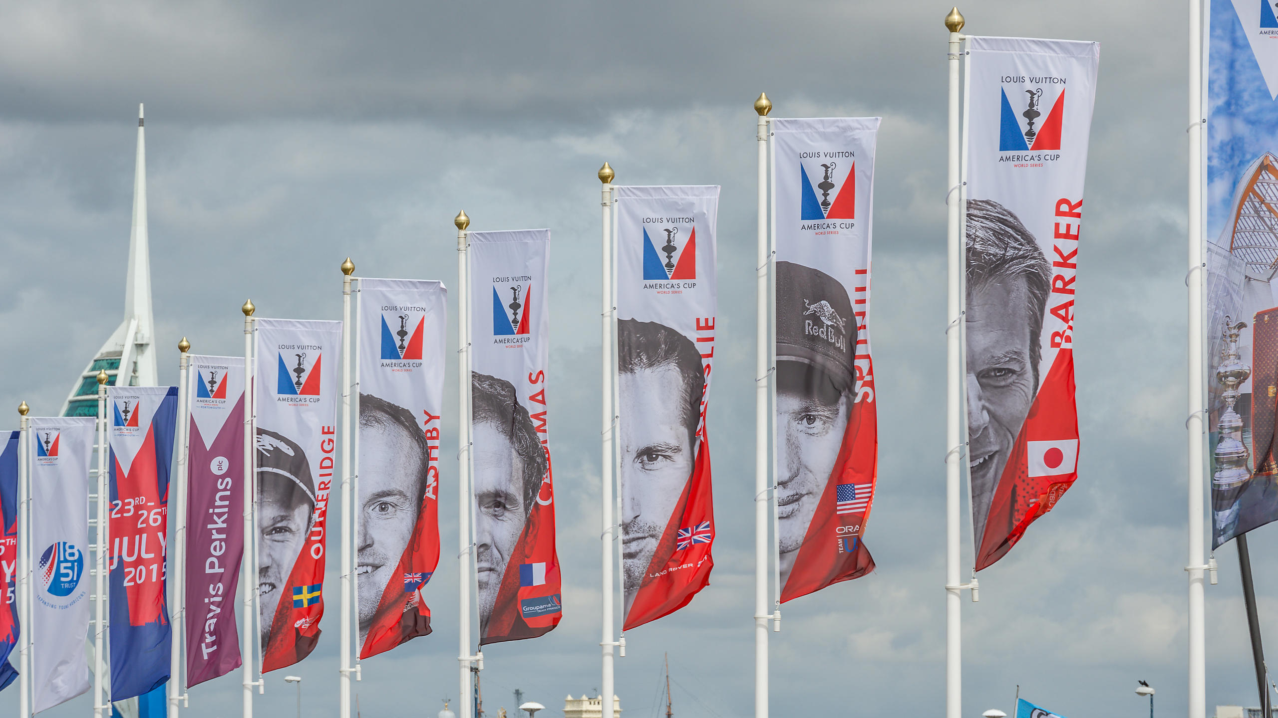 Banners of the Ben Ainslie Race Team