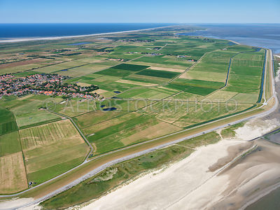 Mieden and Grieën near Hollum on the Wadden Island Ameland. Right Westergrie, middle Hollumerwieden and left Westerwieden.