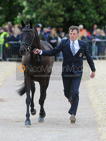 Kai-Steffen Meier and TSF KARASCADA M - First Horse Inspection, Mitsubishi Motors Badminton Horse Trials 2014