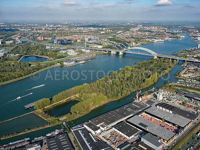 Rotterdam, Island of Brienenoord, and the Brienoordbrug.