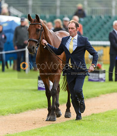 Joseph Murphy and SPORTSFIELD OTHELLO at the trot up, Land Rover Burghley Horse Trials 2018
