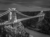 Clifton suspension bridge, Bristol, at night