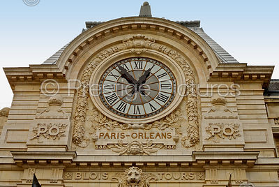 One of the Two Clocks on the The Musee d'Orsay