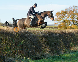Zoe Mossman jumping a hedge at Barrowcliffe Farm 18/11