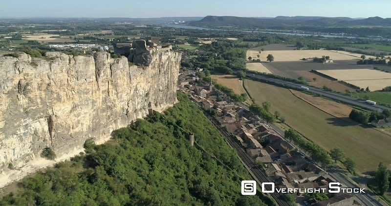 Fortress of Mornas, viewed from drone