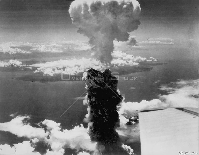 JAPAN Nagasaki -- 09 Aug 1945 -- Out with a bang...One of the first atomic bomb detonations in Nagasaki at the end of World War II.