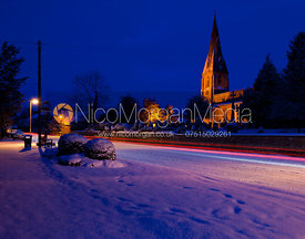 Main Street, Cottesmore after fresh snow, December 2010