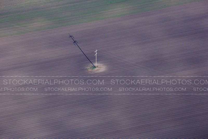 Power Lines Through Field