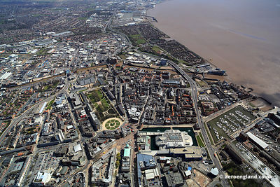 aerial photograph of Kingston upon Hull England UK