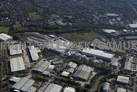 Stockport aerial photography of a waste recycling centre on Bredbury Parkway Bredbury Park industrial Estate