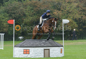 Paul Sims and GLENGARNOCK - cross country phase,  Land Rover Burghley Horse Trials, 6th September 2014.