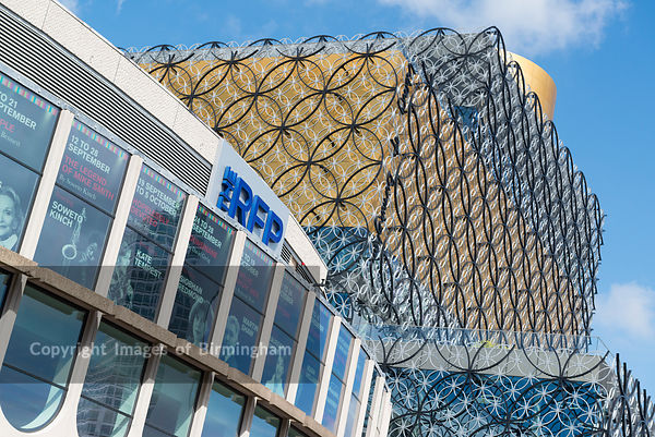 The new Library of Birmingham, in Centenary Square, Birmingham, England