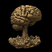 Bronze Brain on Black
