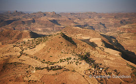 Aerial photograph of an Northern Ethiopian Village