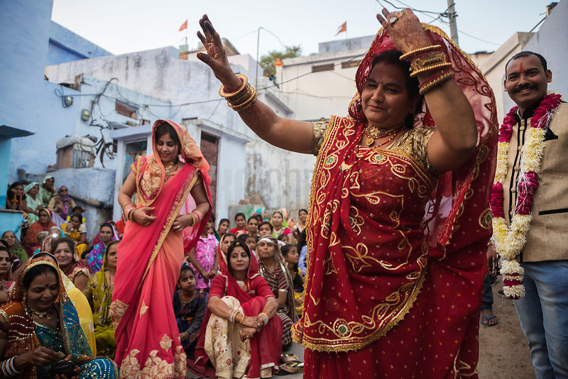 Pre-Wedding Cellebration in the Streets of Bundi