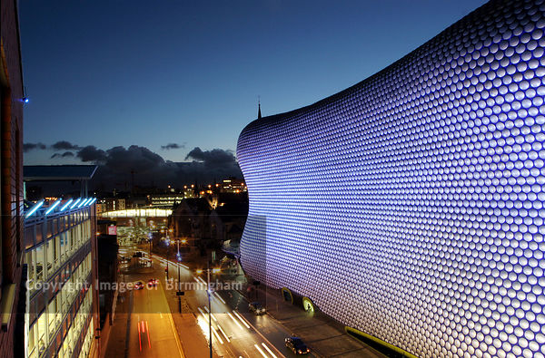 The Selfridges shop building at the Bullring Shopping Centre in Birmingham, England, UK.  The whole development has been the source of much debate thanks to its unusual architecture.