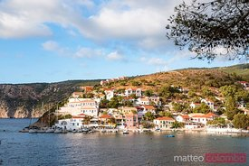 Town and harbour of Assos, Kefalonia, Greek Islands