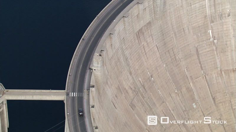 Hoover Dam, intake towers and hydroelectric plant