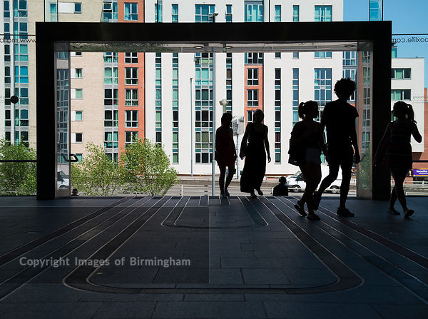 Shoppers at The Mailbox, Birmingham