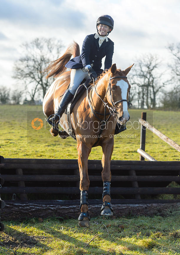 Katie Barber jumping a fence at Cream Gorse - The Quorn at Cream Gorse Farm