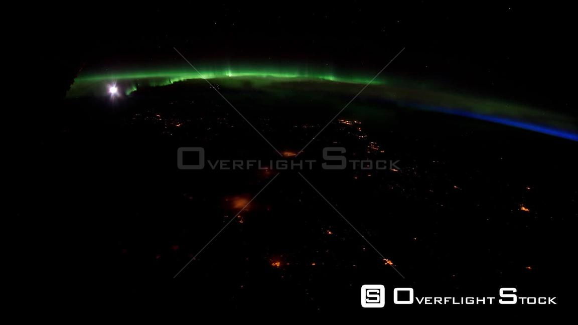 TimeLapse from ISS over Canada USA Aurora Borealis 28_Mar_2012