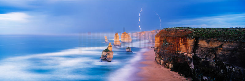 Lightning over the Twelve Apostles