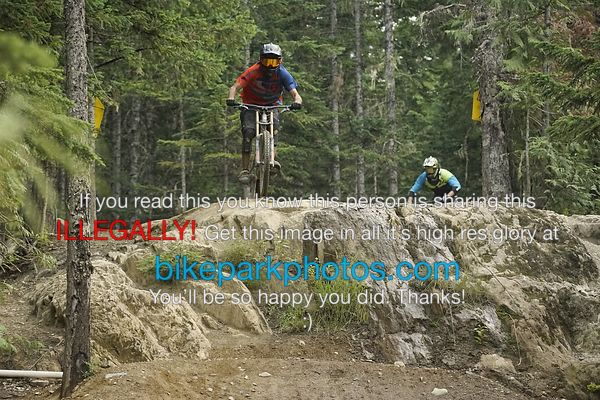 Sunday July 29th Aline Rock Drop bike park photos