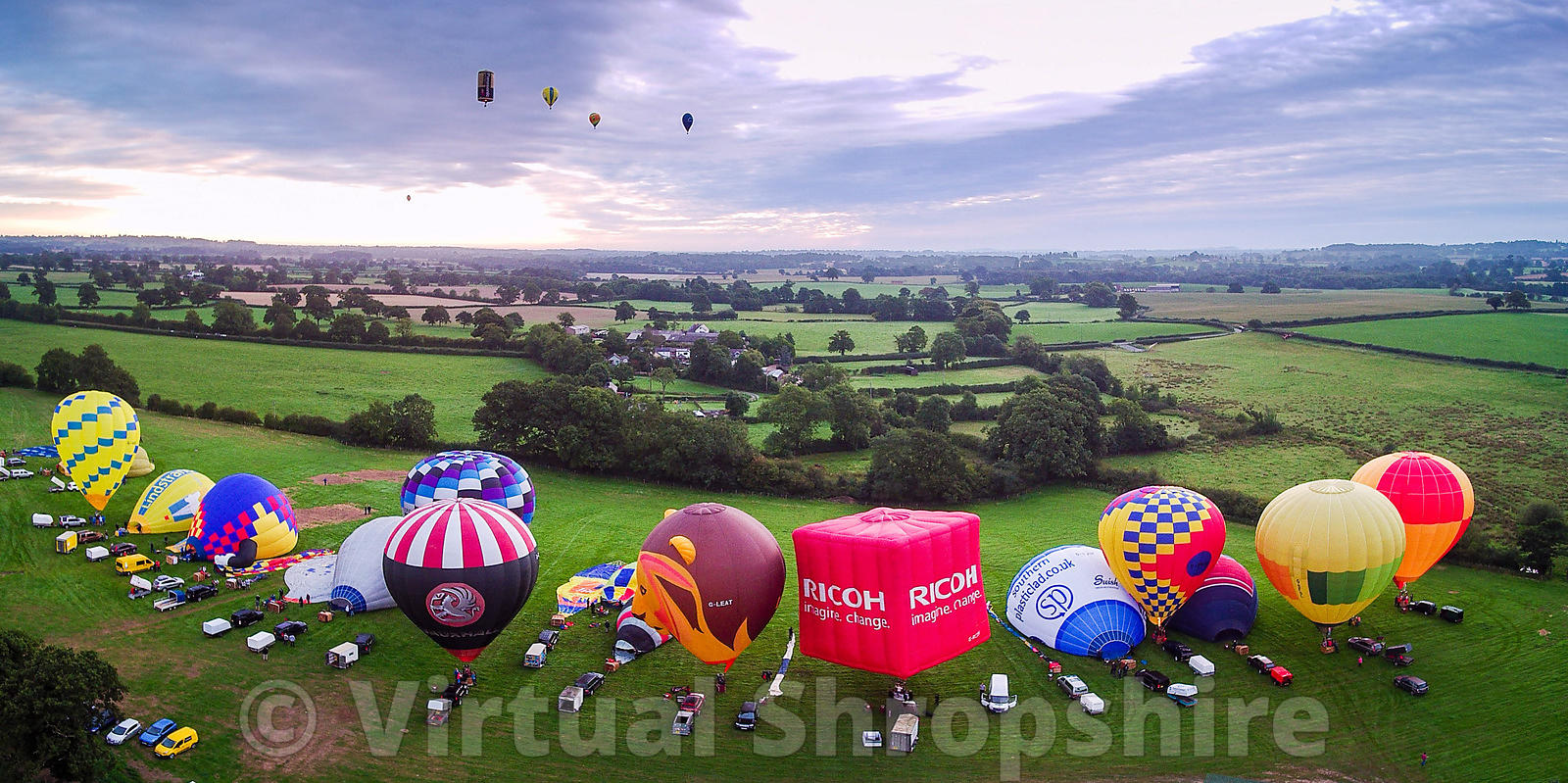 Oswestry Charity Balloon Festival 2017 (Panorama)