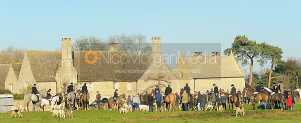 at the meet - The Cottesmore Hunt at Barholm 29/12
