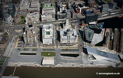 aerial photograph of Pier Head Liverpool