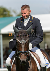 Andreas Dibowski and FRH BUTTS LEON - dressage phase,  Land Rover Burghley Horse Trials, 5th September 2013.