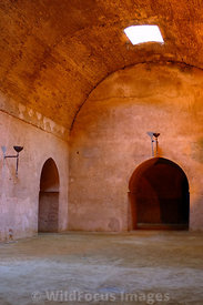 One of the granaries built by Moulay Ismail to store food for his horses, Meknes, Morocco; Portrait