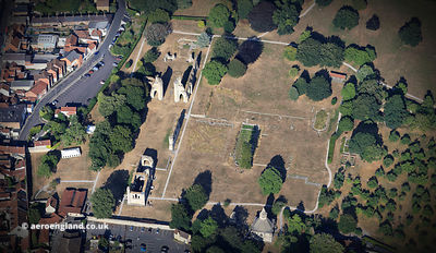 Glastonbury Abbey aerial photograph