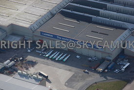 Harwarden aerial photograph of  Airbus Industries Harwarden Cheshire
