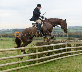 jumping a fence near Wilson's - The Cottesmore Hunt at Braunston 8/11