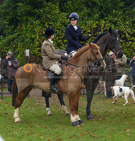 Caroline Edwards at the meet at Barleythorpe 6/12