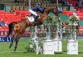Megan Heath and ST. DANIEL - show jumping phase,  Mitsubishi Motors Badminton Horse Trials, 6th May 2013.