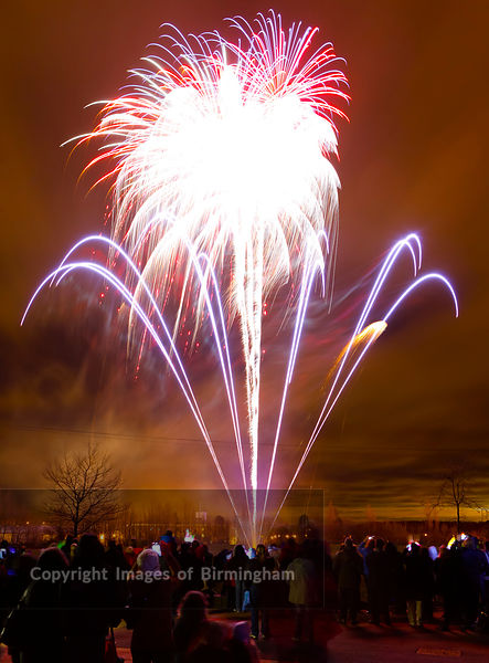Firework Display in Telford Town Park.