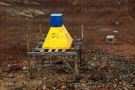 Device for measuring gamma rays and cosmic radiation on slopes of Mt Chacaltaya, Cordillera Real, Bolivia