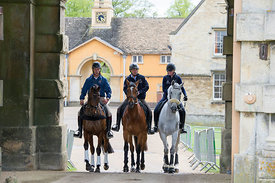 Australian riders Christopher Burton, Sam Griffiths and Emma Dougall at the Mitsubishi Motors Badminton Horse Trials