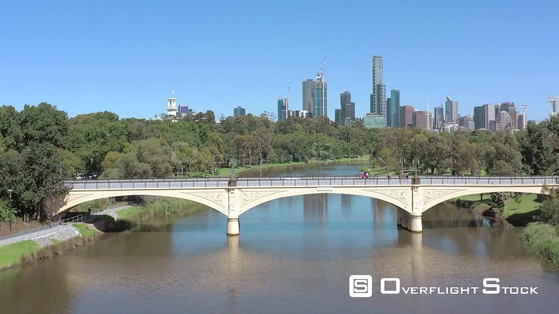 Historic Morell Bridge Yarra River Australia Melbourne.
