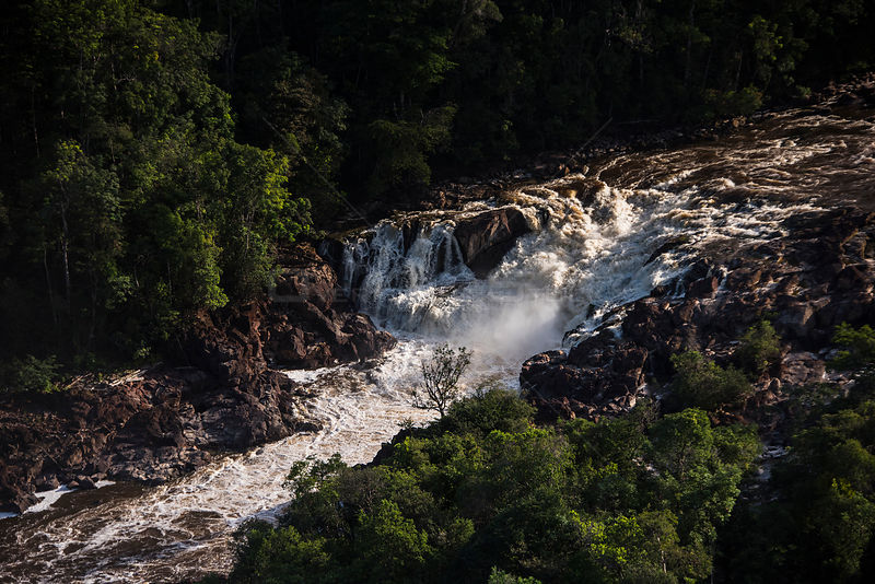 Amatuk Falls seen from the air, Potaro river, Pakaraima mountains, Guyana, South America