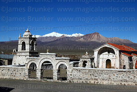 Nuestra Señora de los Remedios church, Lagunas village, Sajama National Park, Bolivi