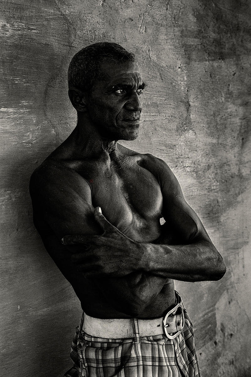 Portrait of a 52 Year Old Retired Boxer