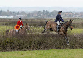 Jumping a hedge at Sheepwash - The Belvoir at Mount Pleasant