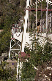 Alexandra suspension bridge at Cataract Gorge, Launceston, Tasmania, Australia; Portrait