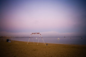Saint Jean de Luz beach at dawn